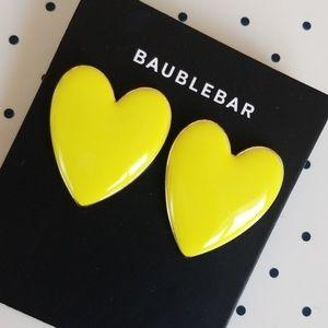 Baublebar Yellow Heart Earrings